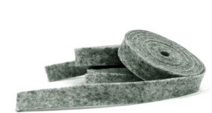 Wool Felt - 100 Percent Wool Felt Ribbon in color DARK HEATHER GRAY - 1/2 Inch X 2 Yards - Merino Wo