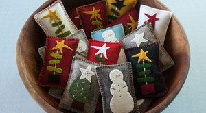 Wool Felt Balsam Pillows - Great bowl fillers and holiday party favors!