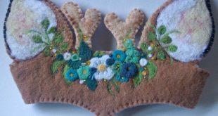 Woodland Deer Crown: Felted Wool Fawn Costume or Dress Up (Waldorf Birthday Crown)