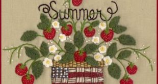 Wool Seasons: Spring - Wool Applique Pattern - by Beth Ritter for Wellington House Designs - Instant Digital Download