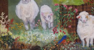A New Flock of Sheep, Felted Applique Printed Pattern by Debora Konchinsky, Critter Pattern Works