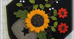 Autumn Daze Wool Applique Penny Rug Table Runner PATTERN   Etsy