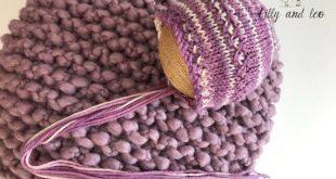 Baby Blanket/Baby Bonnet/Bump Blanket Bonnet Set/Chunky Wool Blanket/Plum Blanket Bonnet Set/Newborn Photo Prop/Free Domestic Shipping