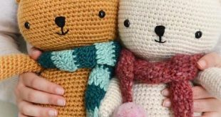 Bear With Scarf Free Crochet Pattern
