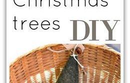 Boiled Wool Christmas Trees