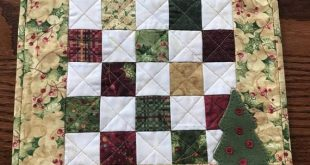 Christmas tree quilt/Downloadable wool applique pattern/e pattern/ instant/PDF pattern