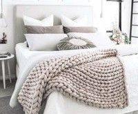 Chunky Knit Blanket 23 Color 4 Size (10080cm; 100120cm; 100150cm; 120150cm) Meri...