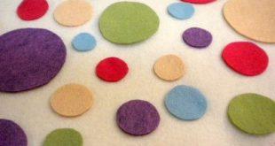 Colorful dots applique