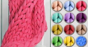 Coral Cable Chunky Knit Blanket, Merino Wool Blanket, Chunky Wool Knit Blanket, ...
