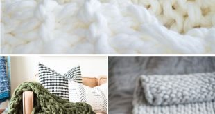 Easy DIY Chunky Knit Blankets to Cozy Up With