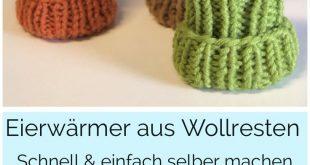Eierwärmer DIY aus Wollresten schnell und einfach selber Stricken • FinasIdeen