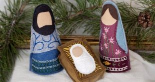 Embroidered Wool Felt Christmas Nativity DIGITAL PATTERN; Nativity Pattern; Embroidered Nativity; Wool Nativity;Christmas Embroidery Pattern