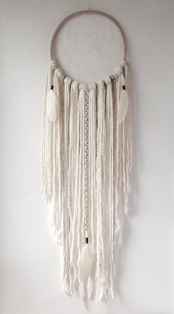 "Ethereal Boho XL CREAM Dream Catcher, Extra Large Dream Catcher 12"", Bohemian DreamCatcher, Wall Hanging, Wall Decor, Boho Wedding, Nursery"