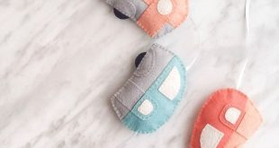 Felt Caravan Garland DIY with Free Printable Pattern