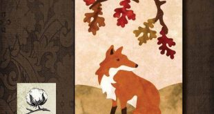Fox in the Garden Wool Applique Pattern