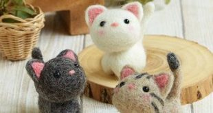 Handgemachte Wollfilz Bausatz kleiner Welpe japanische Kit