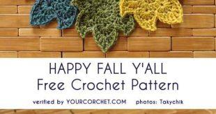 Happy Fall Y'All - Free Crochet Pattern
