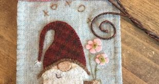 Hartly Gnome pattern for wool appliqué