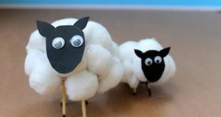 How to make a cotton wool sheep