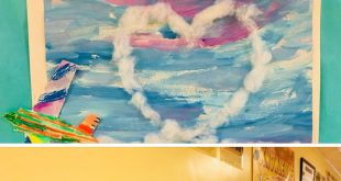 I love art ideas like this... It can be planes, it can be bird... Boat on sea......