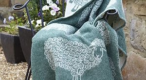 Love design and colour  Curly Lamb Wool Blanket - soft furnishings  from The Woo...