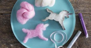 Magical Unicorn Cookie Cutter Wool Craft Kitneedle-free this craft kit is th  20...