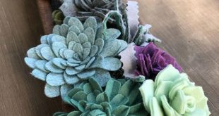 Making extra long boxes of wool felt succulents gives me lots of space for creat...