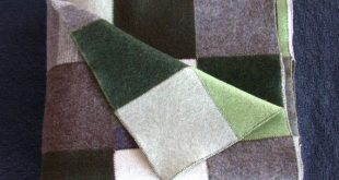 Mint Chocolate Felted Wool Patchwork Throw by LolaKai on Etsy, $350.00