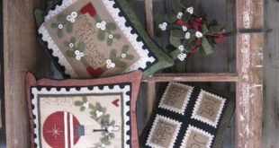 Mistletoe Magic Christmas wool applique pattern at the Pattern Hutch