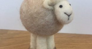 Needle Felted Sheep - pin cushion, 100% wool, gift for Mum, gift, for Sister, gift for Nan, birthday, Christmas, quirky gift