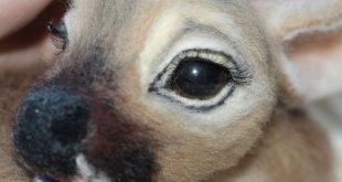 Needle felted deer Bambi needle felted animals felt little | Etsy