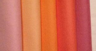 PURE WOOL FELT***Craft Supply ***7 Rainbow coloured sheets ***Steiner Toys***Waldorf Dolls....free shipping in Australia...........Waldorf