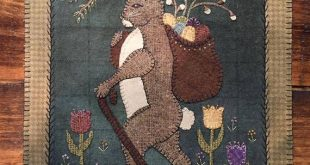 Primitive Applique Pattern or Pattern w/Wool Kit. Kit includes pattern and wool ...
