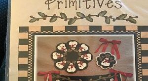 Primitive Wool Applique PATTERN - Frosted Kisses - PLP 201