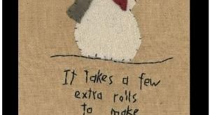 Primitive Wool Applique Snowman Pattern by stitchintimepatterns, $8.50 by PascaL...