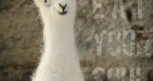 Scruffy The Llama :) needle felted