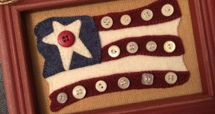 Stars and Stripes wool applique kit and pattern
