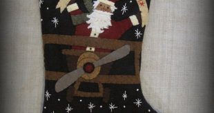 Unique Wool Felt Stocking, Hand Appliqued, Embellished Christmas Stocking, Personalized Stockings, Home Decor, Santa and Snowman