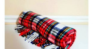 Vintage Tartan Plaid Wool Blanket, 48 x 60, Tartan Wool Throw