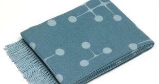 Vitra - Eames Wolldecke, Dot Pattern, hellblau
