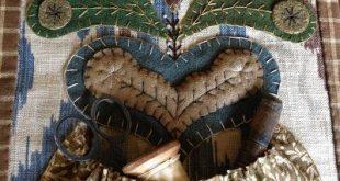 Winding Vine Wanderings: Wool Applique Folk Art Blog Tour ~ My turn...
