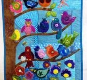 Wool Applique Pattern - Back Porch Designs - Out on a Limb