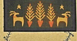 Wool Applique Pattern Peaceful Christmas Decor Holiday Decor Christmas Wool Appl...