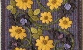 Wool Applique Patterns for Wall Hangings – Horse and Buggy Country Wool Appliq...