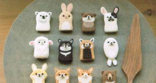 Wool Felt Animals & Cafe Zakka Pattern, Japanese Needle Felting Pattern Book, Kawaii Animal Shaped Felting Doll, Easy Felting Tutorial,B1928