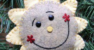 Wool Felt Happy Sun Ornament Color Choice