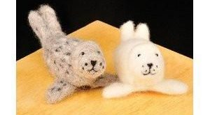 WoolPets Seal Pups Needle Felting Craft Kit