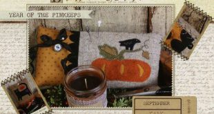 Year of the Pinkeeps September Pumpkin By West, Stacy