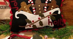 gingerbread wool applique - Google Search