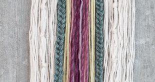 groß DIY – Wall art with yarn
